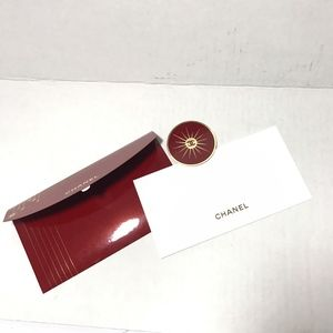 Chanel Festive Red Gift Card w/ Envelope seal